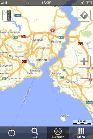 haritaistanbul - Yandex Haritalar'ın Android ve Apple ios Uygulamaları