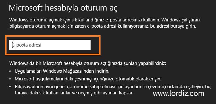 Windows 8'de Microsoft Hesabı ile Oturum Açma - windows-destek