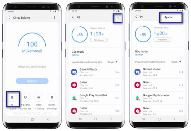 hizli sarj ac kapat2 - Samsung Telefonlarda Hızlı Şarj Özelliğini Açma - Kapatma