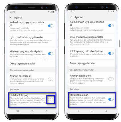 hizli sarj ac kapat3 - Samsung Telefonlarda Hızlı Şarj Özelliğini Açma - Kapatma