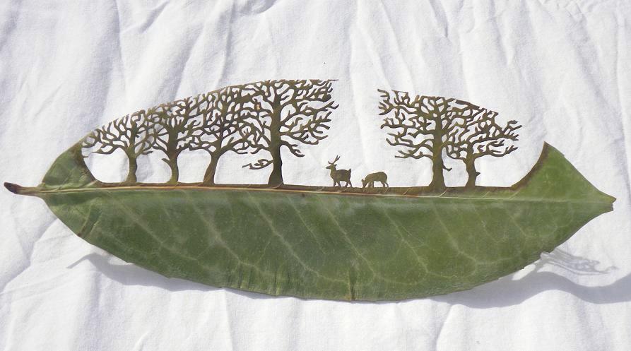 Lorenzo Duran'dan Yaprak Üzerinde Sanat