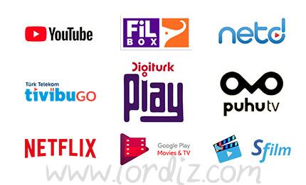İnternet Üzerinden Dizi, Film, Belgesel ve Canlı TV Yayını İzleme