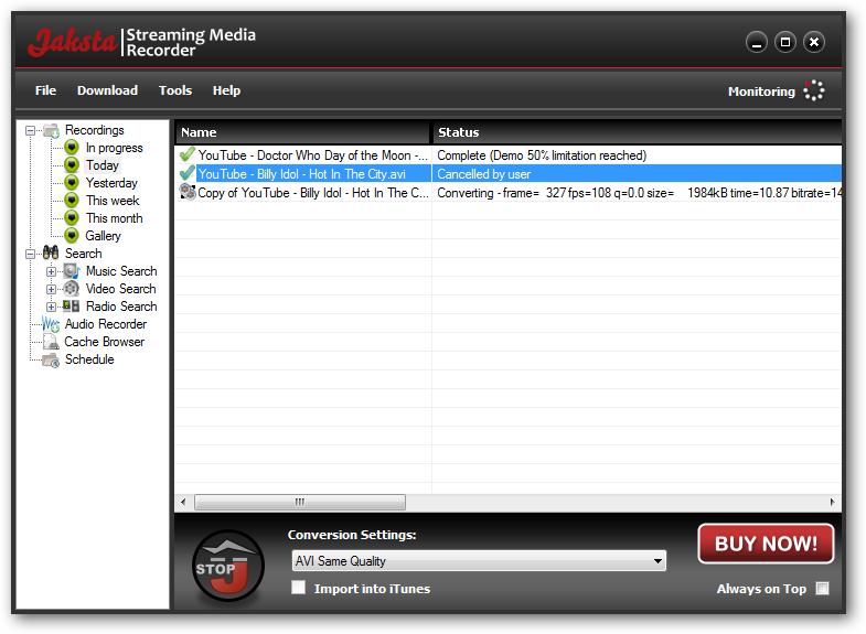 RTMP FLV Online Stream Yayınları Bilgisayara Kaydetme