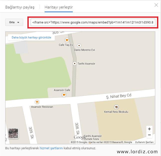 """Web Sitelerine """"Google Maps"""" Haritası Ekleme - web-master"""