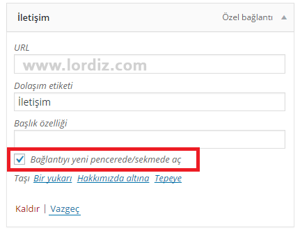 menu link zpsf6ab1avl - Wordpress'de Menü Bağlantıları Yeni Pencerede Açılsın