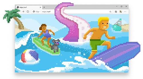 microsoft edge surf oyunu - 30 Senelik Nostaljik Oyun Yenilenen Microsoft EDGE ile Geri Döndü!