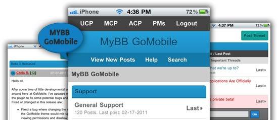 """mybbmobil - MYBB Forumlar İçin Mobil Site Eklentisi """"GoMobile"""" (1.8 Uyumlu)"""