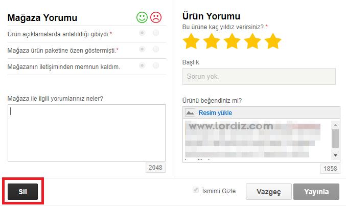 n11.com yorum degistirme2 - n11.com'da Yorum Yapma ve Yorum Değiştirme