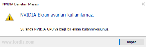 """""""Windows 10 - 1903"""" Güncellemesi Sonrası Nvidia Ekran Kartı Sorunu! - elma-dunyasi"""