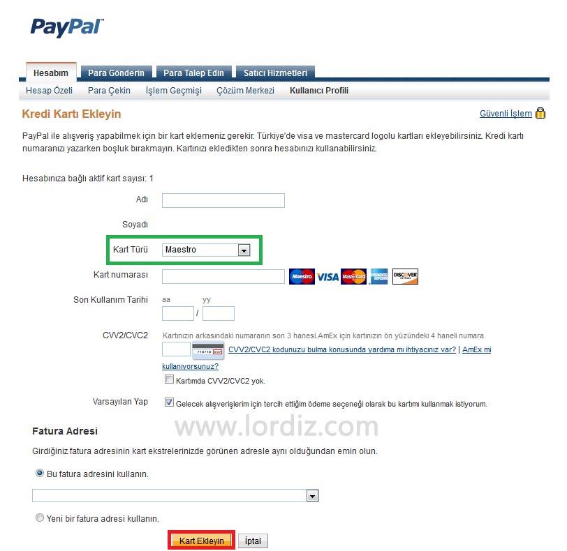 Paypal'a Bankamatik Kartı Ekleme ve Alışveriş - internet-siteleri