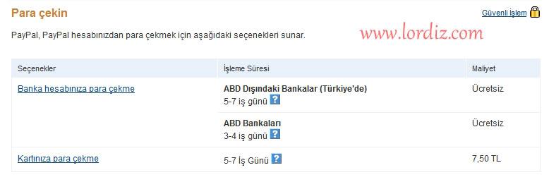 paypal1f - Paypal Hesabından Türkiye'deki Bankalara Para Transferi
