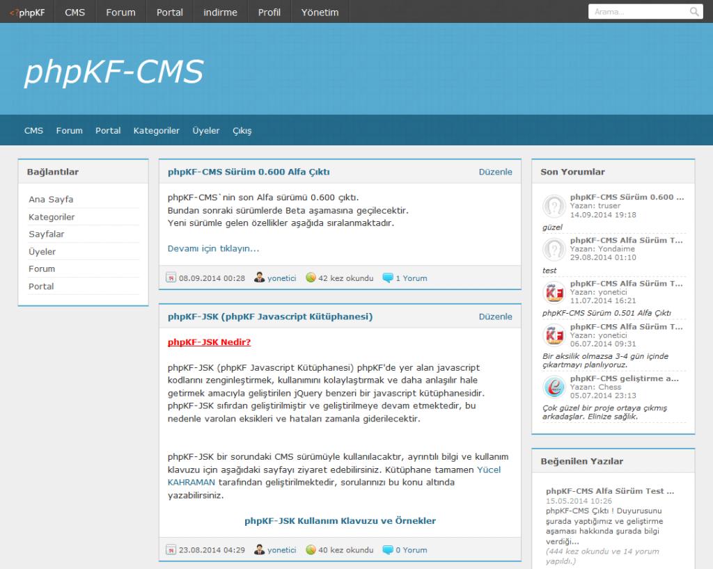 "Mybb ve Vbulletin Alternatifi Ücretsiz Forum ""PhpKF"" - web-master"
