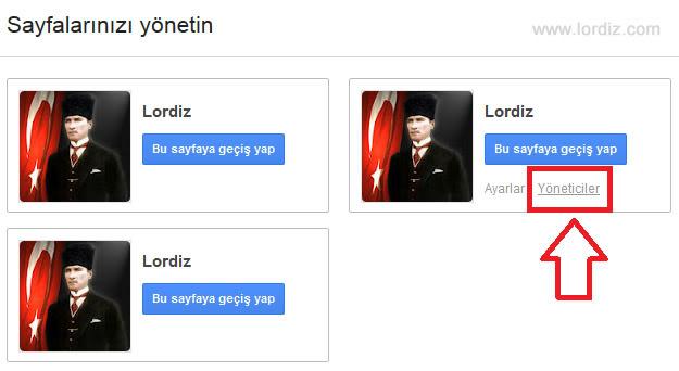 Google+ Sayfanıza Yönetici Atama - internet-siteleri