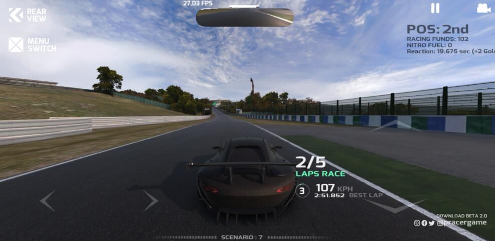"""pracer project racer - Harika Grafiklere Sahip Mobil Yarış Oyunu """"Project Racer"""""""