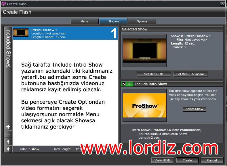 pros3 zps3f018314 - Pro Show Gold'da Videolardaki Reklamı Kaldırma