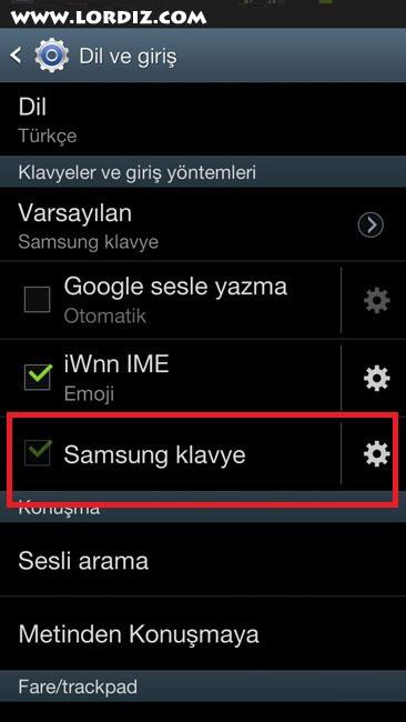 Android Cihazlarda Otomatik Kelime Düzeltmeyi Kapatmak - google-play
