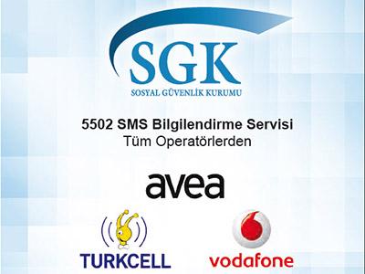 SGK, 5502 Sms Bilgilendirme Hizmeti