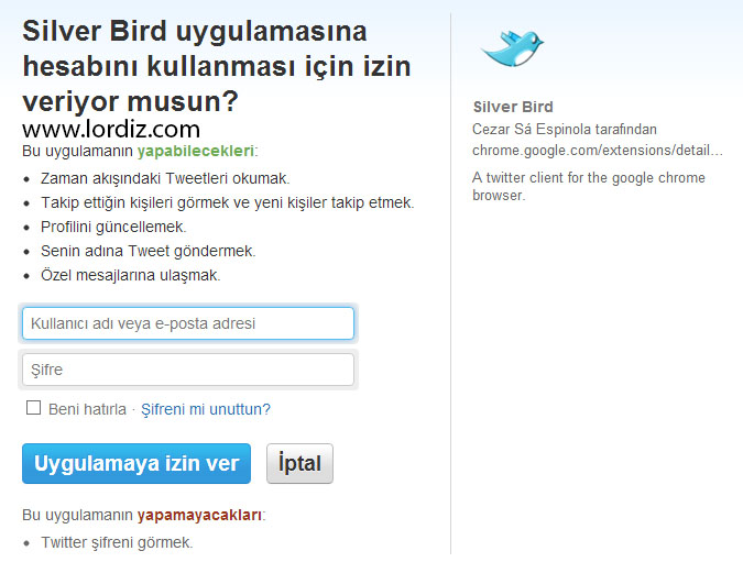 Twitterınızı Silver Bird ile Chrome Üzerinden Takip Edin - internet-siteleri