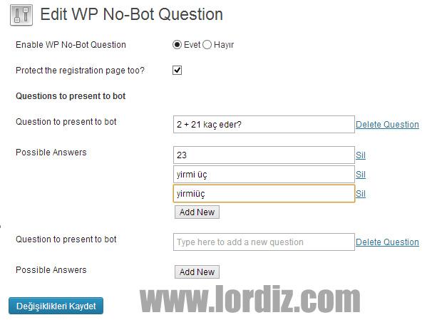 Wordpress için Mobil Uyumlu Spam Yorum Engelleme Eklentisi - web-master