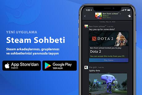 "Yeni Steam Sohbet Uygulaması ""Steam Chat"" Mobil Platformlarda!"