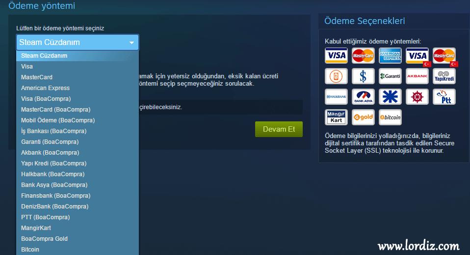 Steam'de Türk Lirası ve Yeni Ödeme Yöntemleri - oyun-indir