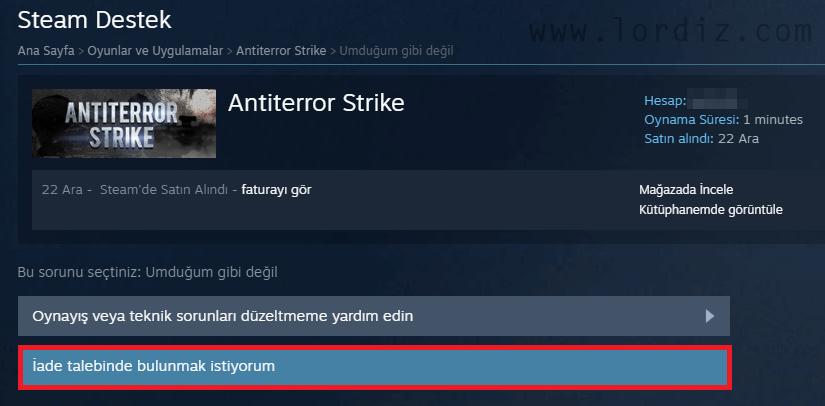 Steam'de Oyun İadesi Nasıl Yapılır? - oyun-indir