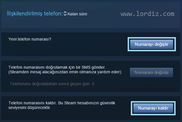 Steam Hesabına Telefon Ekleme ve Kaldırma - oyun-indir