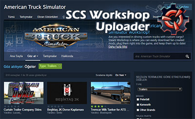 SCS Workshop Uploader ile Steam'e ATS ve ETS 2 Modları Yükleme!