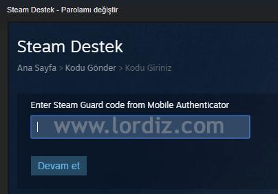 Steam Hesap Şifresini Değiştirme - oyun-indir