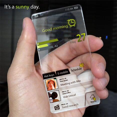 Seunghan Song'dan Cam Görünümlü Telefon Projesi