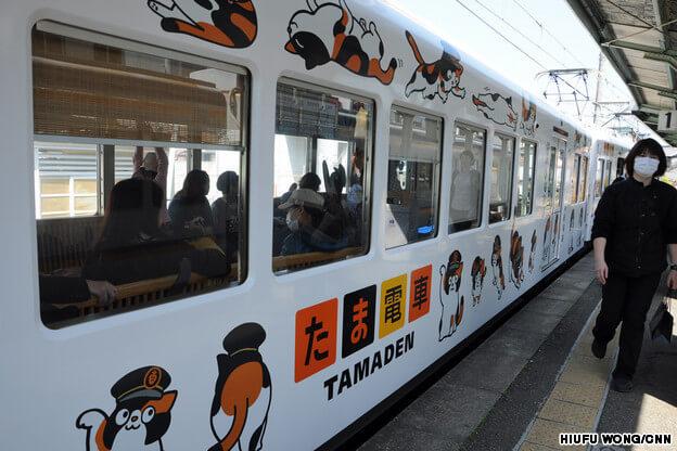 "Tren İstasyonu Şefi Calico Cinsi Kedi ""Tama Densha"" - basin-medya"