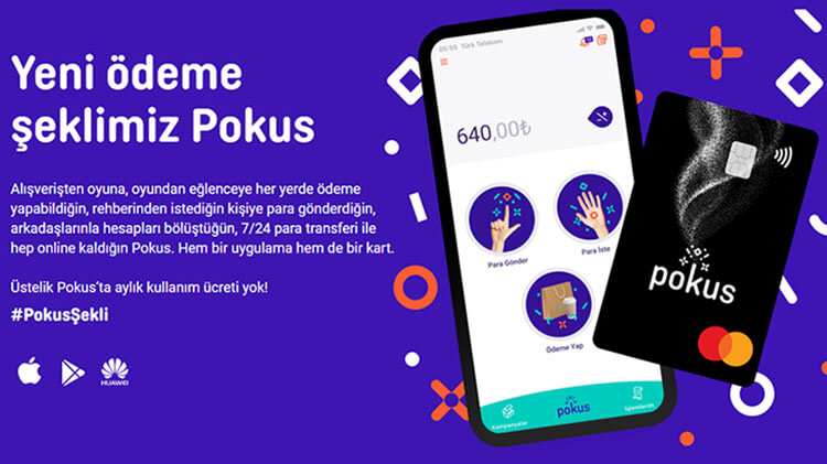"Paycell ve VodafonePay'e Alternatif Türk Telekom ""POKUS"" Kart"