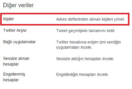 twitter kisiler rehber zpsarzeelyo - Twitter'dan Telefon Rehberi Kişilerini Kaldırmak