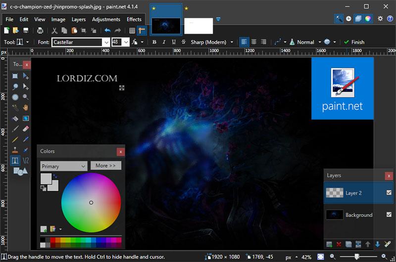"""Ücretsiz Resim ve Fotoğraf Düzenleme Yazılımı """"Paint.NET"""""""