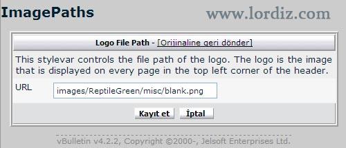Vbulletin 4.x ve 5.x Sürümlerinde Logo Değiştirme