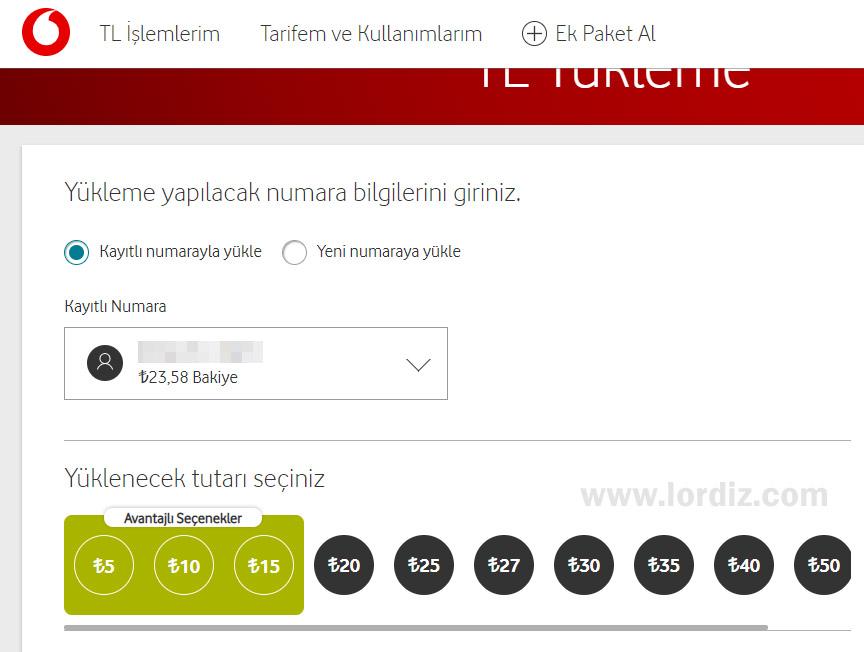 Vodafone Faturasız Hatlarda 5 TL, 10 TL ve 15 TL Yüklemeler Yapmak - cep-telefonu-teknoloji-haber