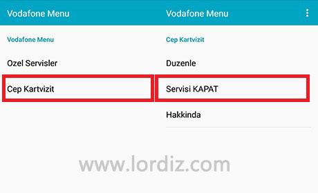 Vodafone Cep Kartvizit Nasıl Kapatılır? - cep-telefonu-teknoloji-haber