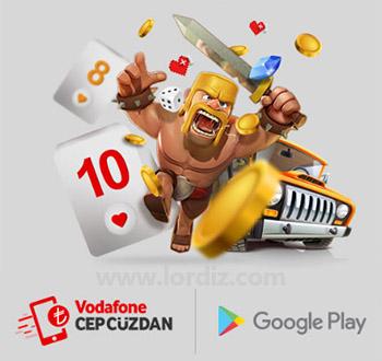 Vodafone Hatlardan Google Play'de Mobil Ödeme ile Alışveriş