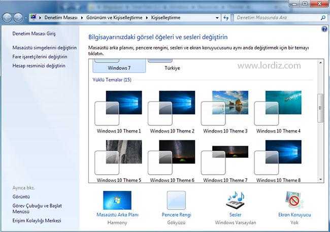 win10 temasi2 - Windows 7 için Ücretsiz Windows 10 Teması