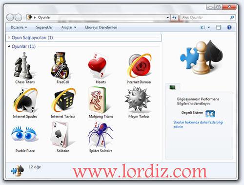 windows klasik oyunlar - Windows 7'de Microsoft Oyunlarını Aktif Etme