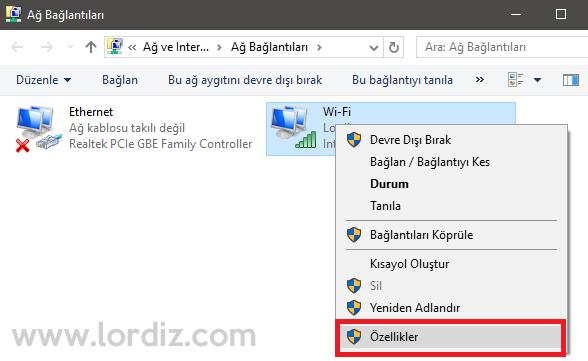 windows10 dns4 1 - Windows 10'da Dns Nasıl Değiştirilir?