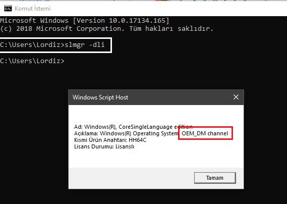 Windows 10 Lisans Anahtarım Oem Mi Yoksa Retail Mi? - windows-destek