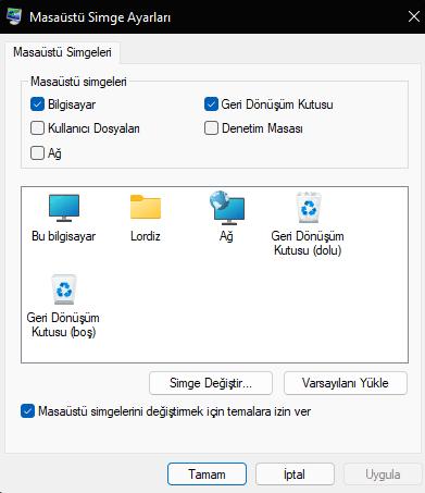 windows11 bu bilgisayar bilgisayarim - Windows 11'de Bilgisayarım Simgesini Masaüstüne Getirme