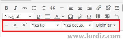 wordpress button zpslpetyani - Wordpress Editörüne Yazı Tipi ve Yazı Boyutu Ekleme