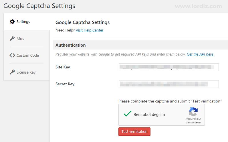 Wordpress Bloguna Google reCaptcha Spam Koruması Ekleme - web-master