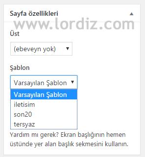 wordpress sayfa sablon zpswl32ejcw - Wordpress'de Yeni Özel Sayfa Şablonu Oluşturma