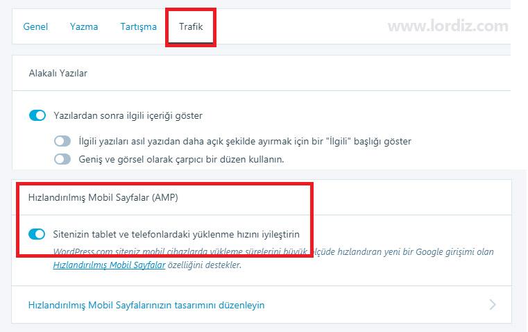 wordpress.com amp trafik - Wordpress.com için Google AMP Nasıl Kapatılır?