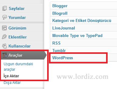 ws1 - Bloggerdaki Yazılarımızı Wordpress'e Aktarmak