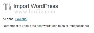 ws5 - Bloggerdaki Yazılarımızı Wordpress'e Aktarmak