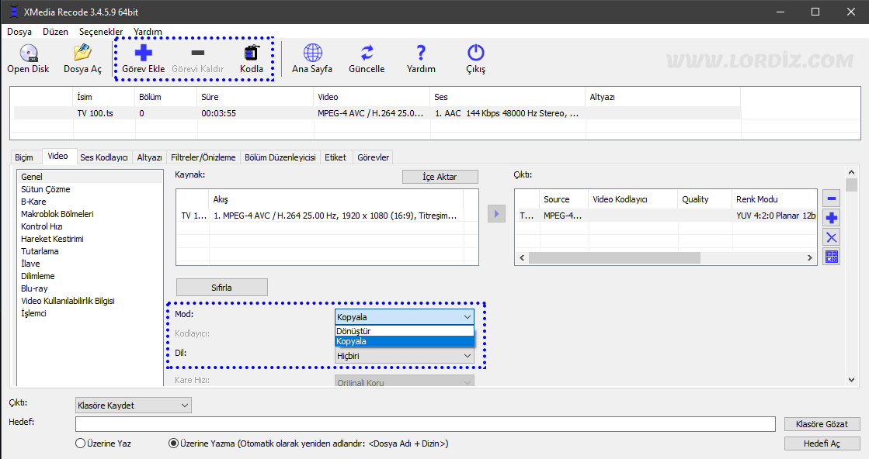 """xmedia recode video ses donusturucu - Video ve Ses Formatı Dönüştüren Ücretsiz Yazılım """"XMedia Recode"""""""